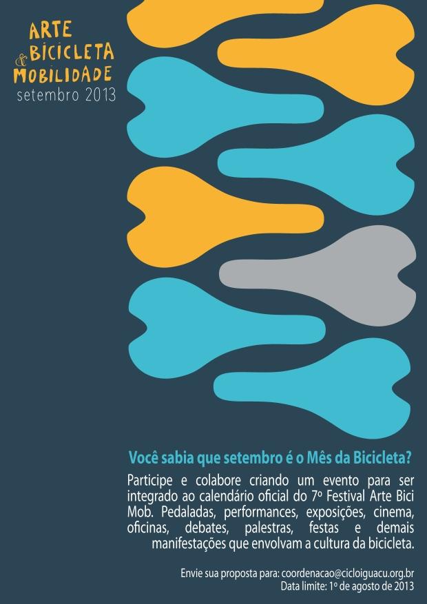 ARTE BICI MOB - 2013 / Chamada de propostas